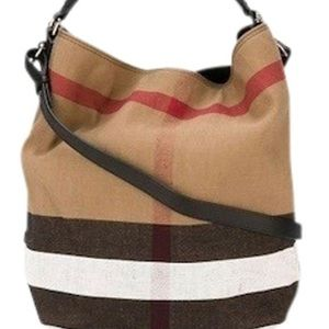Burberry Bucket Nwot Ashby Canvas Hobo Bag